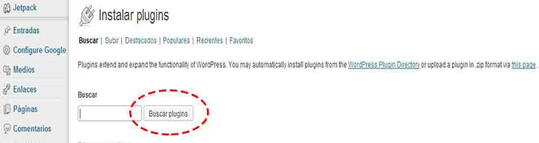 buscar plugins