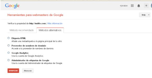 herramientas para webmaster de google etiquetas html