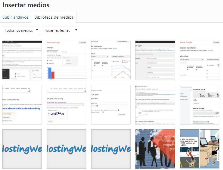 insertar imagen en un blog de WordPress