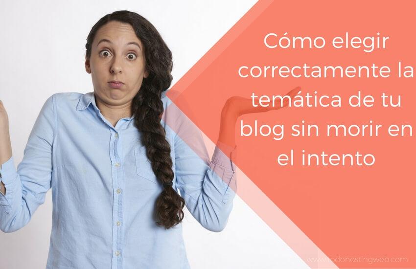 elegir temática blog